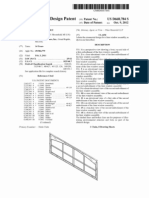 Faux window assembly (US patent D668784)