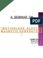 Motionless Electromagnetic Generator[Meg}