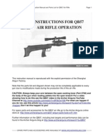 QB57 Air Rifle Operator's Manual and Parts Diagram