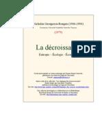 Nicolas Georgescu Roegan.descroissance