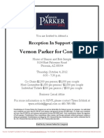 Reception for Vernon Parker