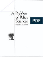 LASSVELL (1971) a Pre-View of Policy Sciences