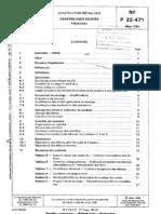 NF P 22-471 - Construction Metallique - Assemblages Soudes - Fabrication