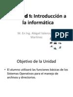 ER - Informática - Unidad 1 - Tema 1