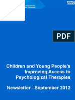 NHS IAPT Children and Young People's Project Newsletter September 2012