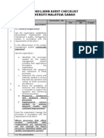 ISO 9001 2008 Audit Checklist