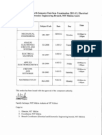 Examination Schedule EED