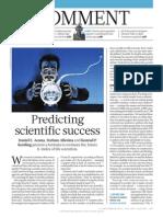 Predicting scientific success