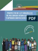Proyecto de Ley Orgánica De Recursos Hídricos, Usos y Aprovechamiento del Agua
