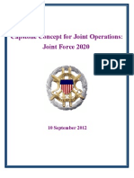 Capstone Concept for Joint Operations—Joint Force 2020