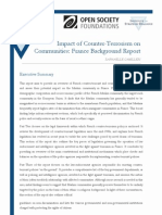 Impact of Counter-Terrorism on Communities- France Background Report