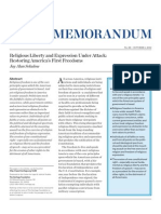 Religious Liberty and Expression Under Attack- Restoring America's First Freedoms
