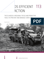 Toward Efficient Early Action- The EU Needs a Regional Focus and Proactive Tools to Prevent and Manage Conflicts