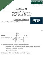 EECE 301 Note Set 12a Complex Sinusoids