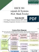 Eece 301 Note Set 25 Dft - Dtft - Ctft Relations