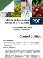 Ciencia, Tecnología e Innovación [Control político]
