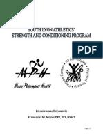 strength program overview - fall 2012