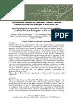 Mapeamento dos Segmentos de Agropecuária, Indústria, Serviços e Administração Pública nos Municípios de Mato Grosso, 2008.