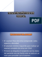 EXAMEN FÍSICO DE ORINA