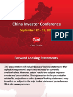 YUM China Conference 2012 Website