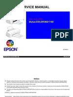 Epson SC-860, SC-1160 Service Manual
