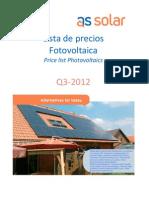 As Solar Lista Precios PV 2012_09
