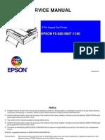 Epson FX-880, FX-880T, FX-1180 Service Manual