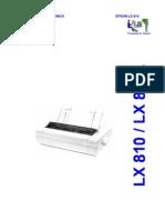 Epson LX-810, LX-810L (Em Portugues) Service Manual