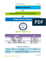 Software Test Plan for Automated Ticket Issuing System for Dhaka Subway Systems