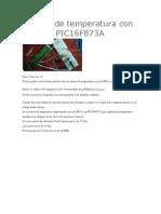Sensor de Temperatura Con LM35 y PIC16F873A2