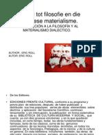 Introduccion a La Filsofia y Al Materialismo Dialectico