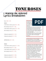 Lyrics Breakdown - I Wanna Be Adored (The Stone Roses)