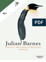 Nichts, Was Man Furchten Musste - Julian Barnes