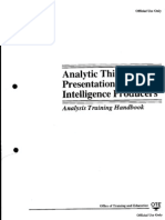 CIA Analysis Training Handbook