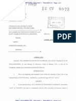 ACE AMERICAN INSURANCE COMPANY v. APPROVED MARINE, INC. Complaint