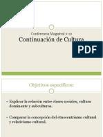 Conferencia Magistral No. 10 - continuación_cultura
