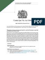 UK Cestui Que Vie Act 1666