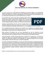 Directorio Del Partido - Comunicado Del 9 de Octubre de 2012