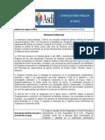 Convocatoria # 102012  Coordinación Proyecto con ASDI Quibdó