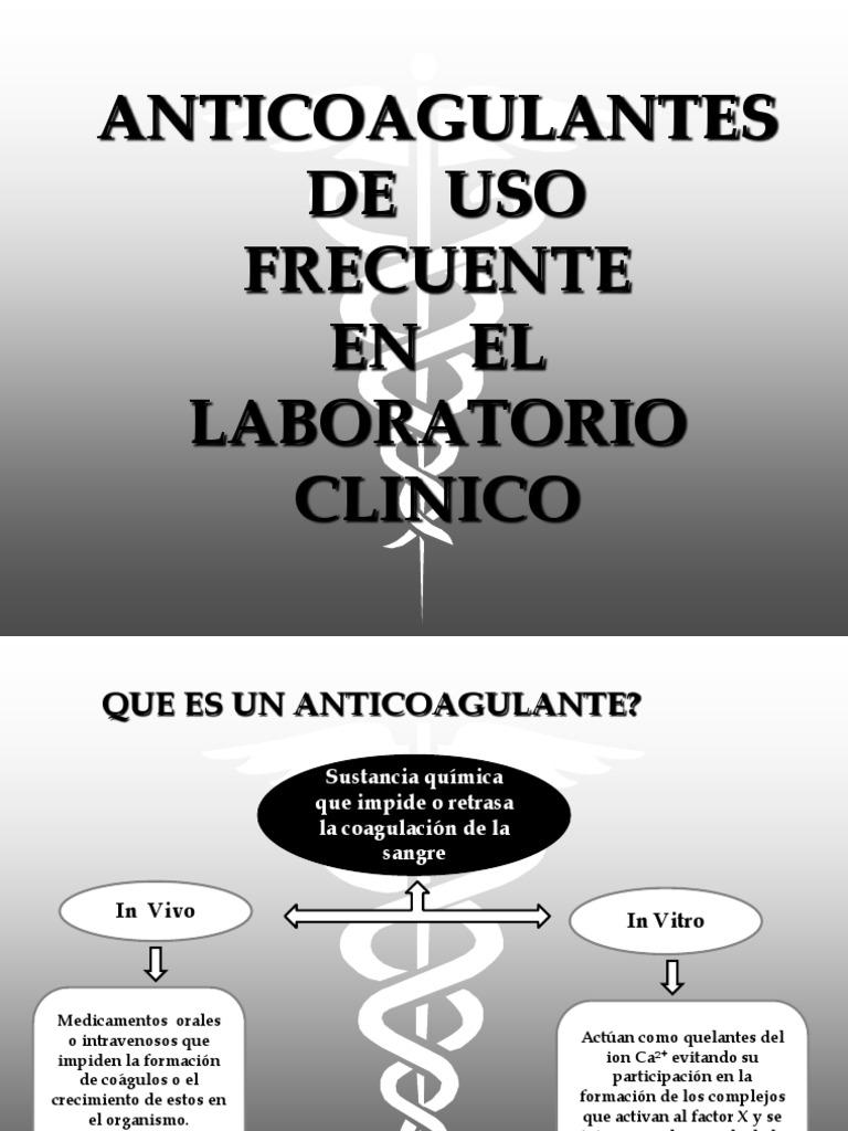 Coagulantes y anticoagulantes pdf free
