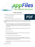 3.) AppFiles2012 - Creating a New AppFile