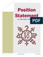 Position Statement on Same-Sex Sexuality