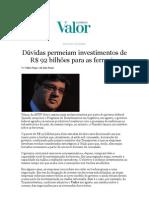 Jornal Valor Economico Vilaca ANTF 09102012