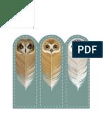 Marca páginas de corujas