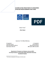 The Role of Culture in the Structure of Categories of Application Between Denmark and China