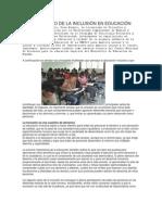 EL SIGNIFICADO DE LA INCLUSIÓN EN EDUCACIÓN