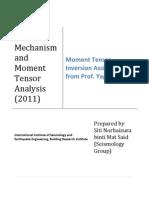 Focal Mechanism and Moment Tensor Analysis_Siti