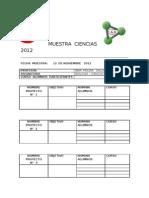 Muestra Interna 2012