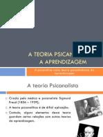 A Teoria Psicanalítica e a Aprendizagem versão 2
