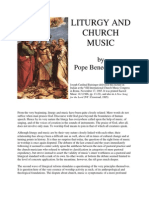 Liturgy and Church Music - Card Joseph Ratzinger, 1985
